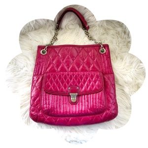 Coach Poppy Quilted Slim Tote Leather